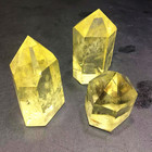 Wholesale natural gemstone yellow quartz citrine point healing crystal wands for spirit of reiki