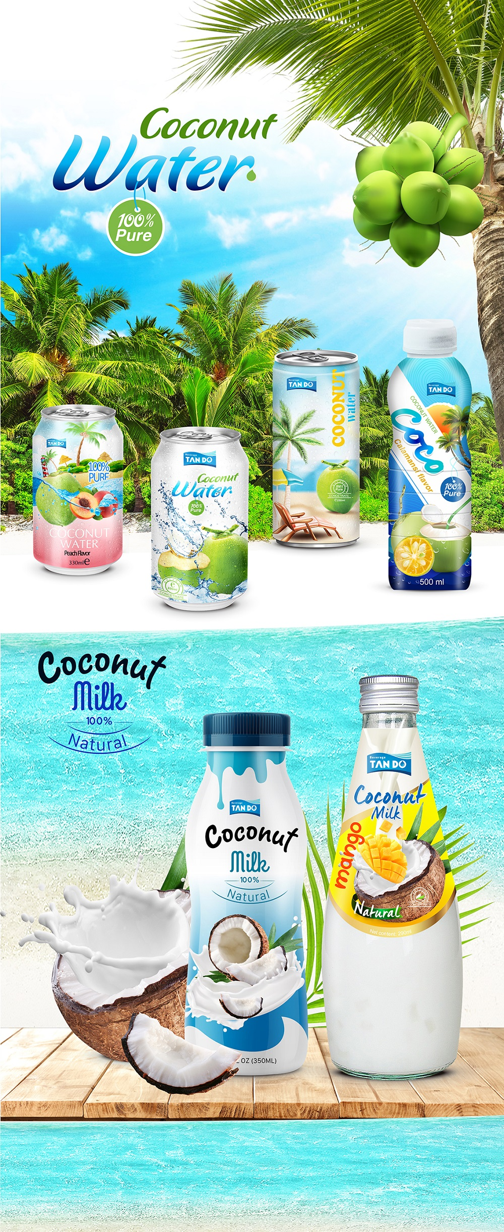 250ml Coconut Water Wholesale Export Canned Drinks For Health and Beauty