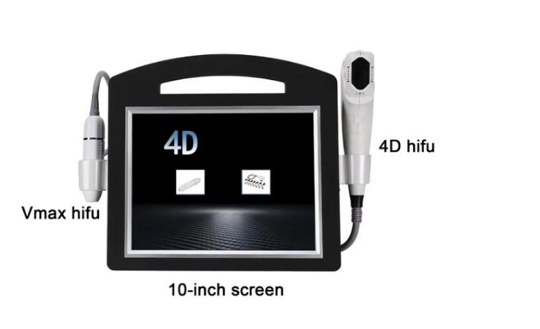 2020 4D hifu+ultrasound Radar line V-max face lifting 2 in 1 hifu machine