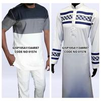 Newest Designs Mens Thobe Muslim Islamic Clothing Men's Thobe Short Long Sleeve Thobe Middle East Burqa Hijabs Sheila