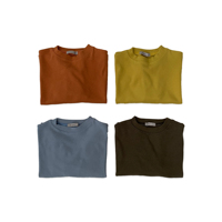 DE MARVI Girls Boys Basic Simple Color T shirt Round neck Long Sleeve Top Clothing Wear OEM wholesale MADE IN KOREA