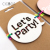 "CICADA ""Let's Party"" Letters Plywood Decoration White Present Topper Xmas Festival Children's Gifts Pendant Sign Decoration"