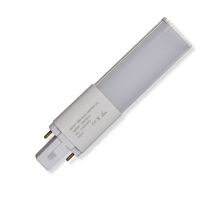 AC-in 230V 2pin G23 LED cfl; LED Replacements for 2 pin DULUX S, Low voltage Biax Series, PL-S compact fluorescent lamp