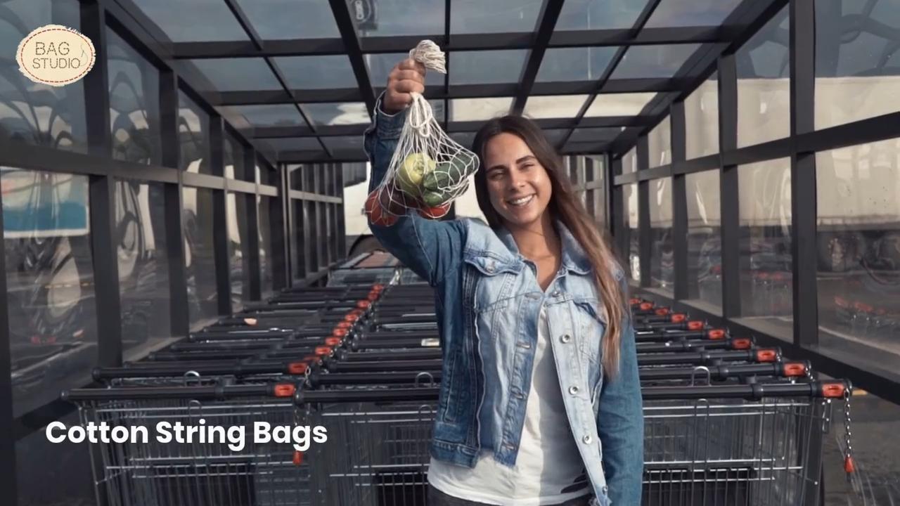 Ecology Washable Cotton String Market Bag