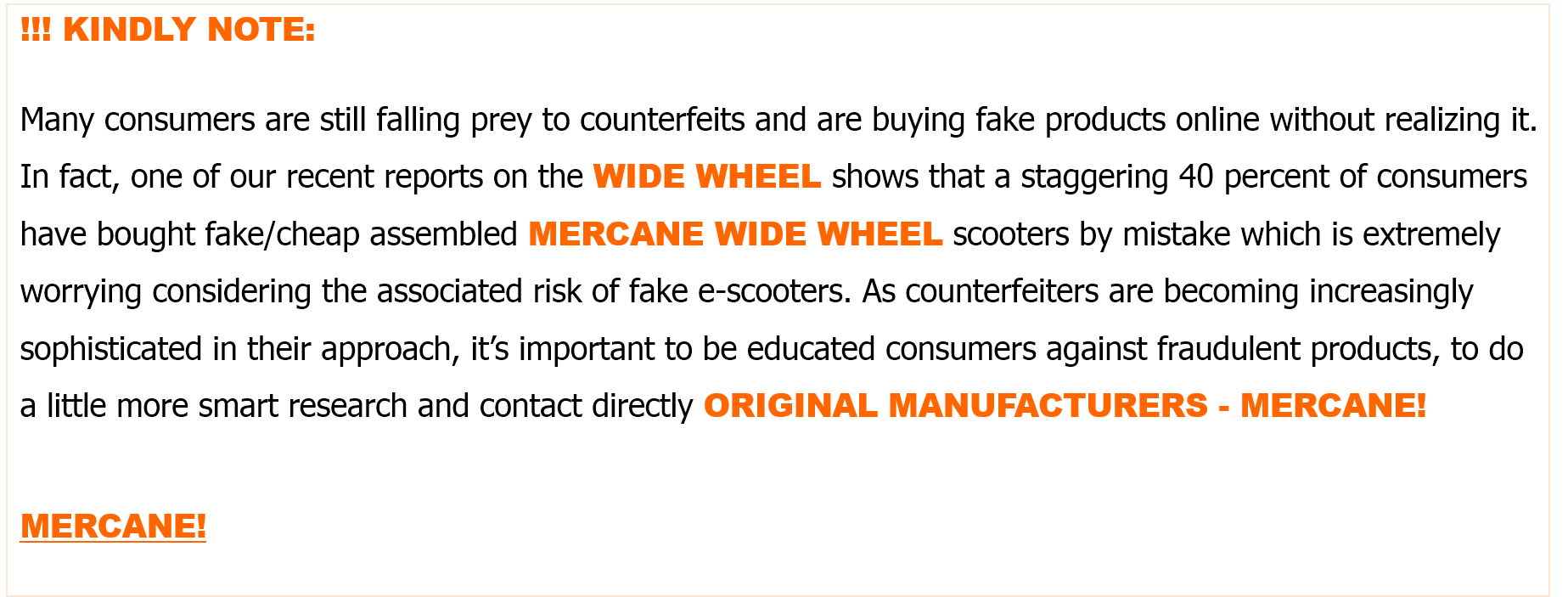 Original Mercane widewheel and widewheel pro electric scooter scooter 2020