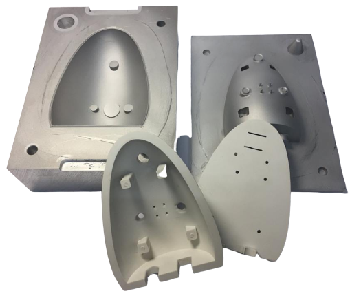 Rubber molding from one piece is possible.