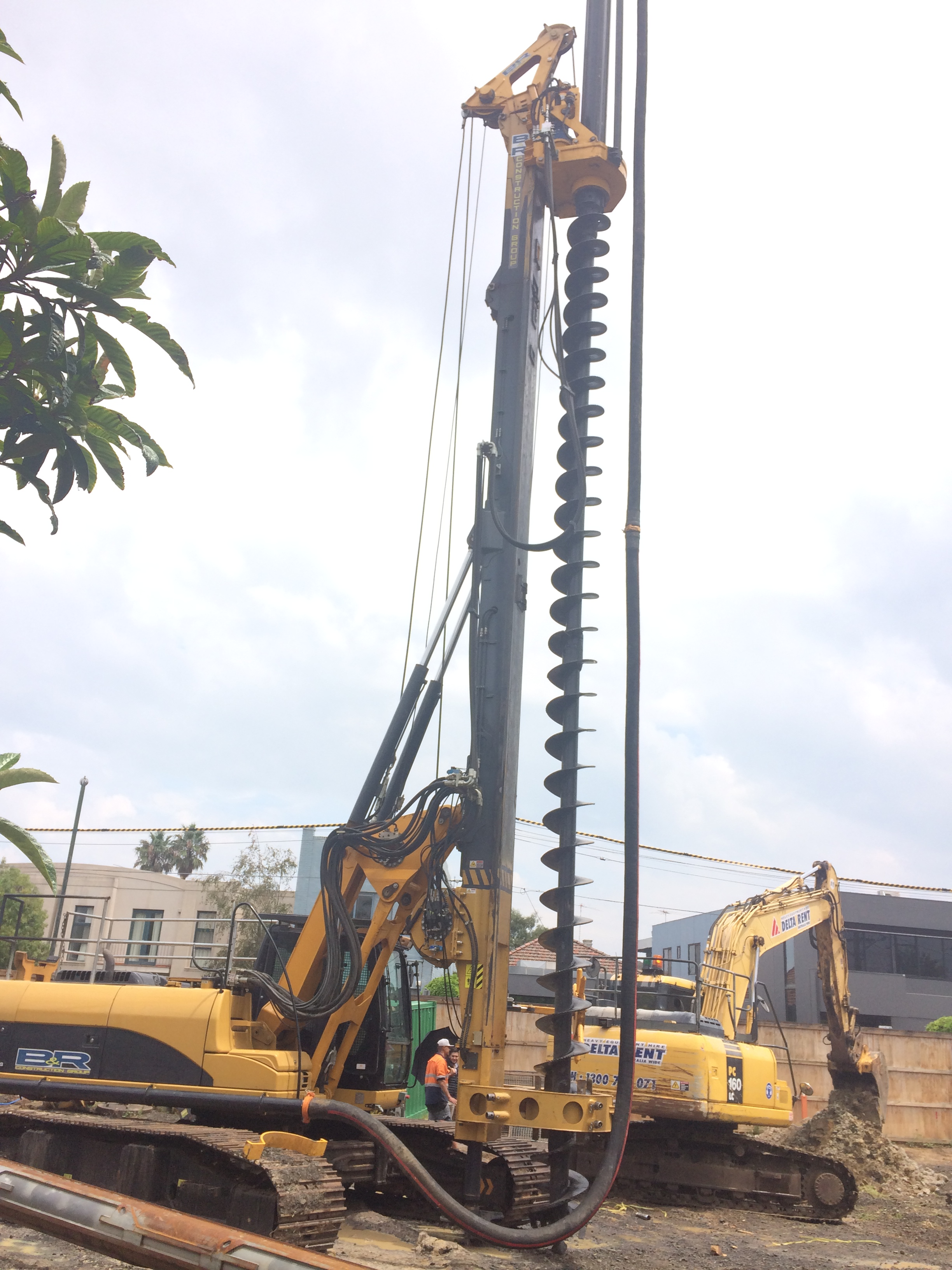 Long sprial CFA Rotary piling rig mahcine, bore pile