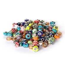 Hot Selling <span class=keywords><strong>Murano</strong></span> Lampwork 50 stks Mix Kleur Glas <span class=keywords><strong>Kralen</strong></span> Los