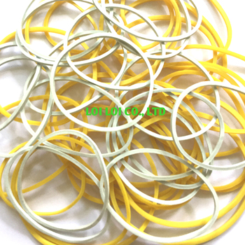 Elastic rubber band high quality without sticking together or breaking / Multi color rubber bands gum for office and stationery