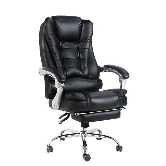 Popular Modern Double Material Luxury Style Swing With Footrest Boss Swivel Office Chair