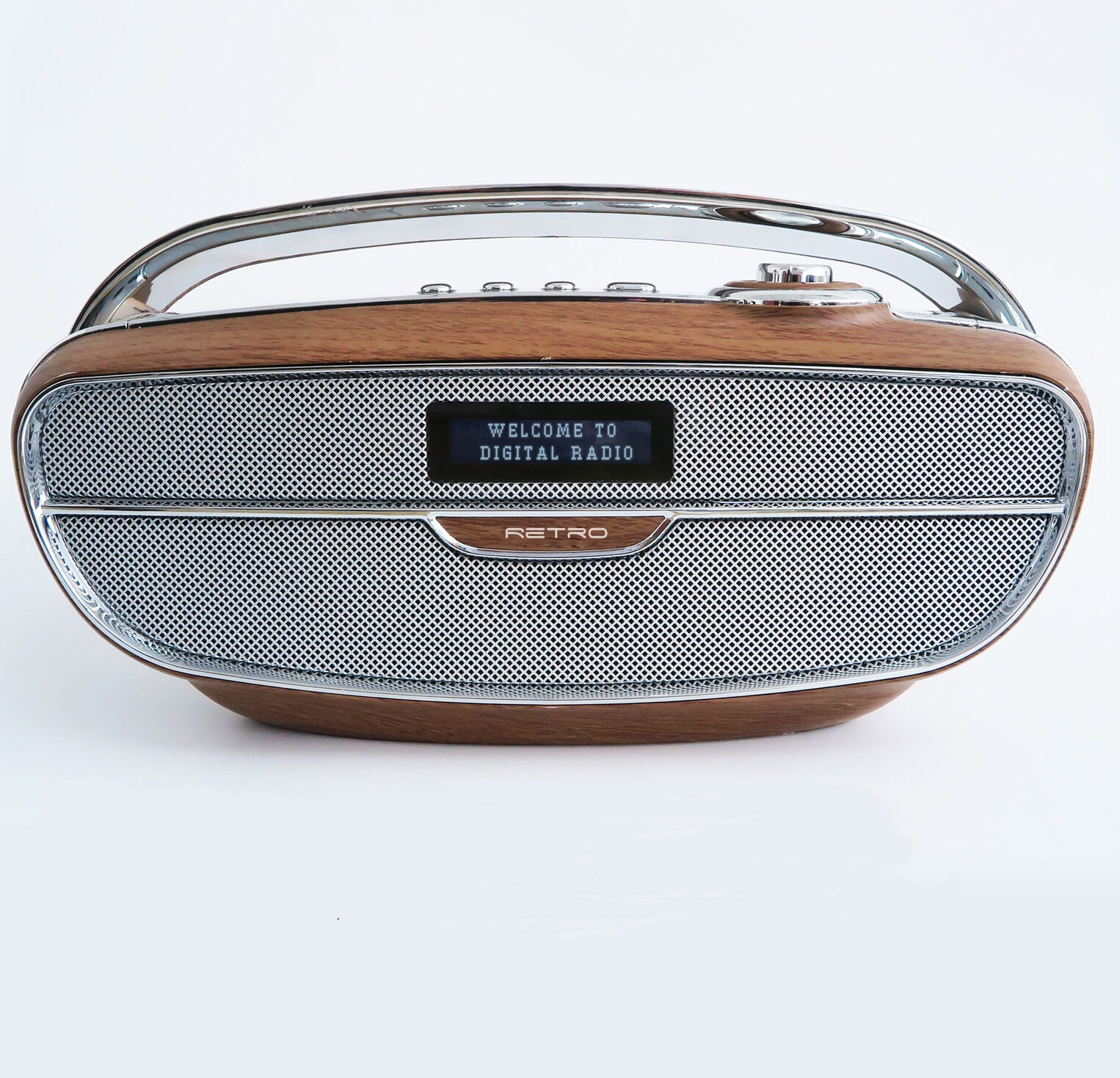 Shaba Bluetooths dengan DAB Radio Speaker dengan LCD Display Nirkabel Speaker Kuat Suara Stereo Bass 5 Preset EQ