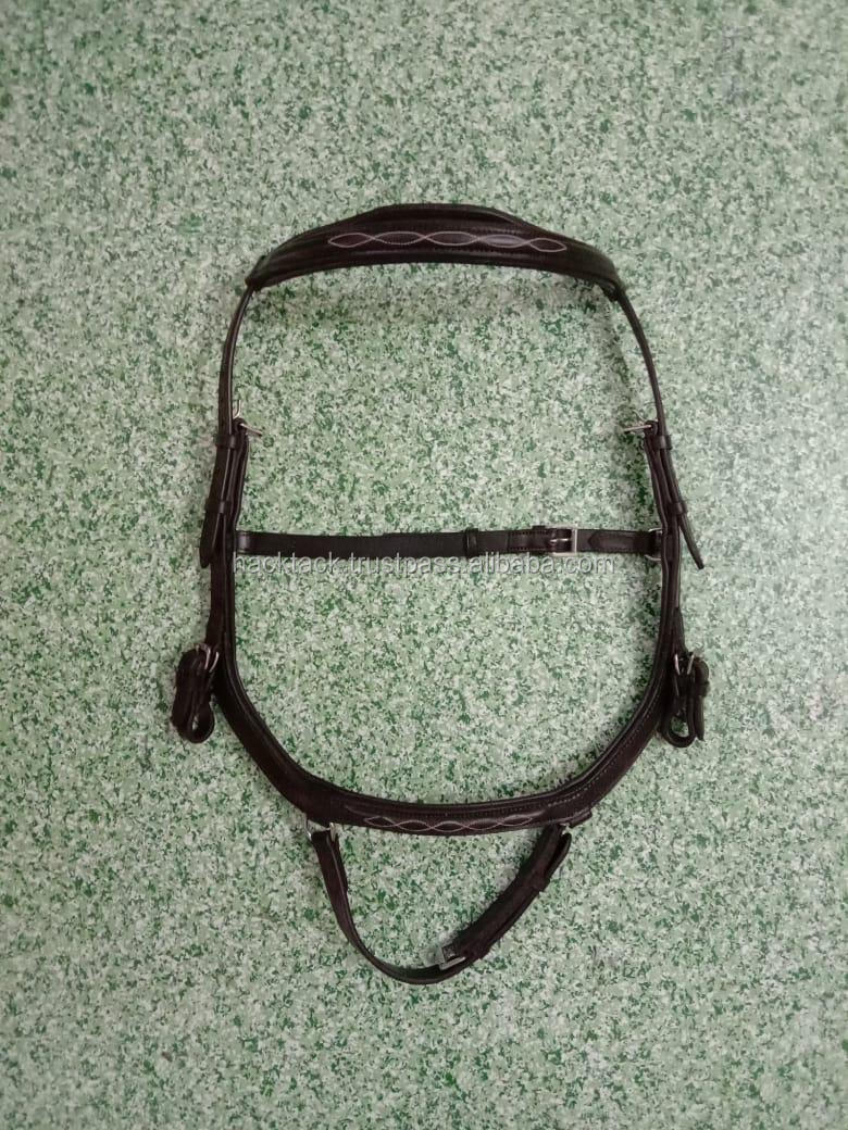 Micklem Deluxe Competition Bridle/ Genuine Micklem black bridle BRAND NEW Competition Bridle For large Horse
